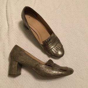 Gold Heeled Mules